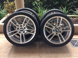 """18"""" GENUINE BMW 1-SERIES 135i *M-SPORT* E82 E87 WHEELS & 85% BRID Kew Boroondara Area Preview"""