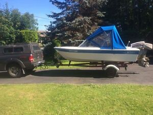 12 foot Sangster with 50hp Johnson and Trailer3300$