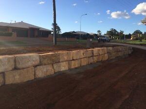 Sandstone block retaining walls Brookfield Brisbane North West Preview