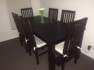 Balinese style dining table and chairs Maryland Newcastle Area Preview