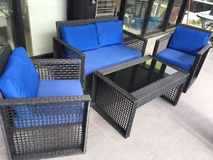 Wicker Outdoor Setting 4 Piece Abbotsford Yarra Area Preview