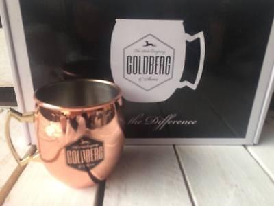 ❤️ 2x Goldberg Cooper Mug Moskau Mule Edelstahl Kupfer Becher