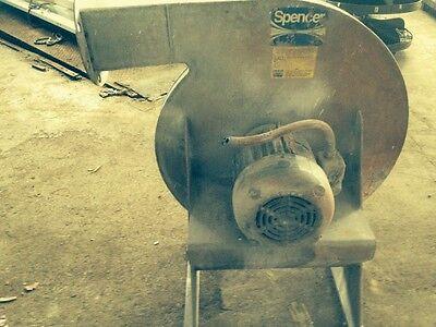 Industrial Fan Blower  Spencer Blower  Cat M1205-ss