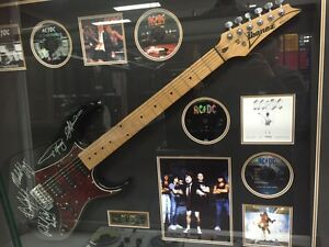 Authentic signed AC/DC Framed guitar Liverpool Liverpool Area Preview