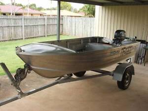 3.4m Tinny 15hp Motor and Trailer Victoria Point Redland Area Preview