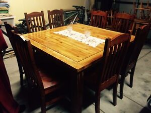 Large Solid Wood 8 Seater Dining Table & Chairs Craigie Joondalup Area Preview
