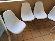 Replica Eames Dining Chairs (set of 4) white Bondi Beach Eastern Suburbs Preview