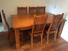 Timber dining table and chairs Rockdale Rockdale Area Preview