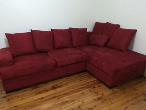 Red Hot 3-4 Seat Sofa    NEAR NEW !!! Ingleburn Campbelltown Area Preview