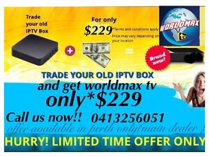 Worldmax NEW modelIPTV ( we beat any price in perth)main dealer Morley Bayswater Area Preview