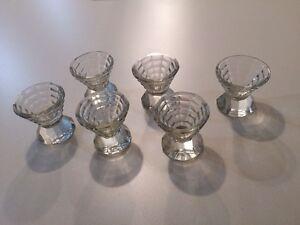 Antique cut Glass egg cups Set 6 Golden Square Bendigo City Preview