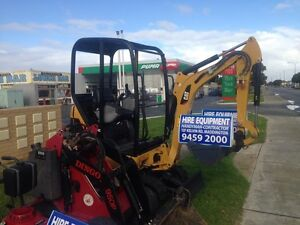 Excavator for hire 1.5 ton $180/day, $270 weekend