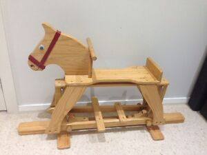 Wooden Rocking Horse East Maitland Maitland Area Preview