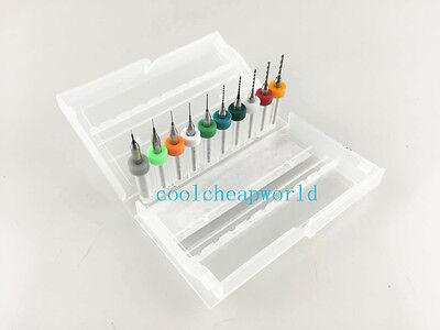 10pcs 0.1-1.0mm Pcb Mini Drill Bits For Print Circuit Board Cnc 0.1mm To 1.0mm