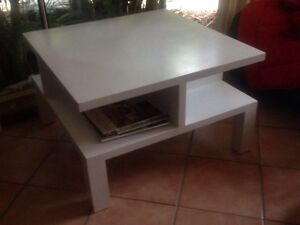Coffee Table modern white large square solid wood New Lambton Heights Newcastle Area Preview
