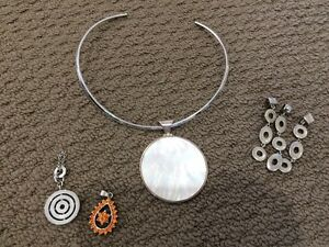 Mixed jewellery. Rhodium plated, costume, silver and mother of pe North Rocks The Hills District Preview