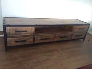 Tv unit - solid mango wood Melton Melton Area Preview