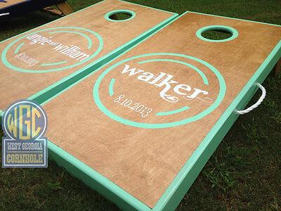 walker wedding cornhole board set