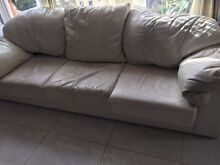 Creme leather lounge Denistone East Ryde Area Preview