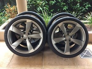 "19"" GENUINE AUDI A4 / S4 *S-LINE* ROTOR WHEELS & HANKOOK VW GOLF Kew Boroondara Area Preview"
