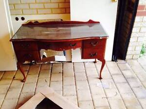 Antique Wooden Dressing Table + Mirror Westminster Stirling Area Preview