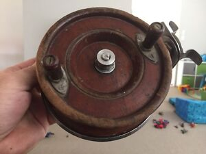 Old wooden Fishing reel (Side cast) Yamanto Ipswich City Preview