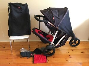Phil and Teds Vibe Double Pram plus EXTRAS++ Fulham Gardens Charles Sturt Area Preview