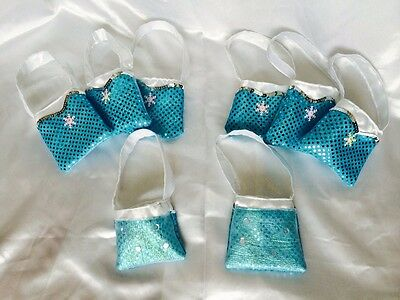 Elsa Frozen Party Favors Set Of 8 New Handmade Tote Bag Perfect For Party Favors