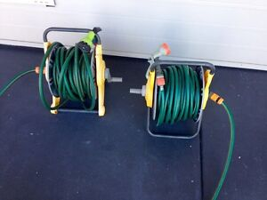 Garden hose reels x 2 with spray guns and all accessories Cornubia Logan Area Preview