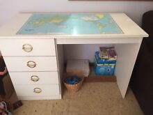 White kids desk with world map Maroubra Eastern Suburbs Preview