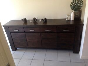 Moving home and must sell. 4 piece hard wood furniture set Mitchelton Brisbane North West Preview