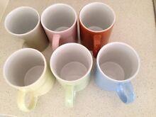 set of 6 mugs - assorted colors Highett Bayside Area Preview