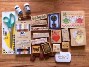 Lot of Scrapbooking Stuff Stamps Scissors Pencils Etc Beenleigh Logan Area Preview