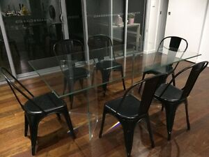 DESIGNER GLASS DINING TABLE Ascot Brisbane North East Preview