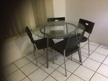 Glass dining table +chairs Carindale Brisbane South East Preview