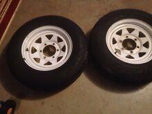 Hilux wheels 2 trailer wheels 6 stud Blair Athol Campbelltown Area Preview