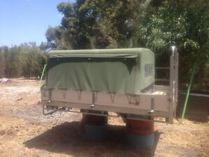 Canvas canopy on full size tray Mandurah Mandurah Area Preview