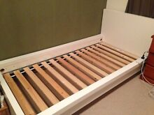 Free white IKEA single bed frame Dolls Point Rockdale Area Preview