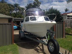 19 FOOT HALF CABIN SAVAGE ATLANTIC FISHING AND SKING BOAT Thornlands Redland Area Preview