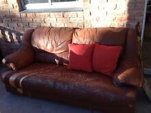 Brown leather couch - Curl Curl Curl Curl Manly Area Preview