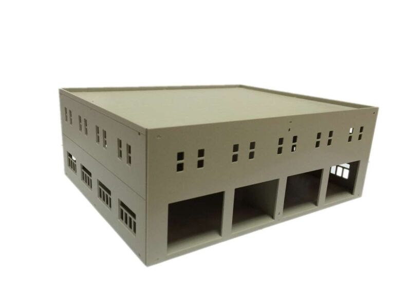 Outland Models Train Railway Garage / Logistics Centre Unpainted HO OO Scale