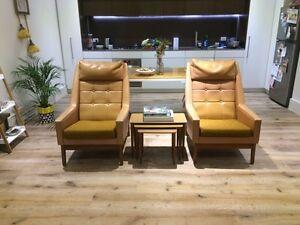 Pair of retro Don Furniture 60s armchairs Prahran Stonnington Area Preview