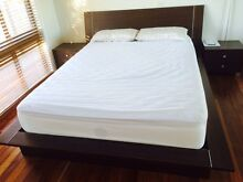 Queen bed and bed sides Bow Bowing Campbelltown Area Preview