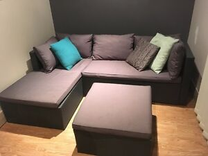 Outdoor lounge set and ottoman Jesmond Newcastle Area Preview