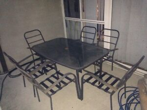 Outdoor Dining Set 6 Seater Metal Glass FREE!! Beverly Hills Hurstville Area Preview