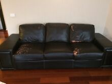 2 X 3 Seater Lounge Couch Sofa (faux Leather) Free Cairnlea Brimbank Area Preview