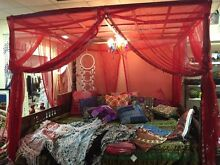 Bed, Bali Day Bed, Gypsy Boho, Four Poster Bed Picnic Point Bankstown Area Preview