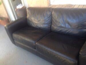 $250 bargain leather Scali chaise lounge sofa Cronulla Sutherland Area Preview
