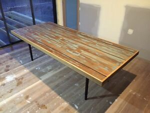 Reclaimed Spotted Gum tables made to order! Torrens Woden Valley Preview