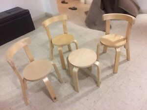 Toddler timber chairs and table Green Valley Liverpool Area Preview